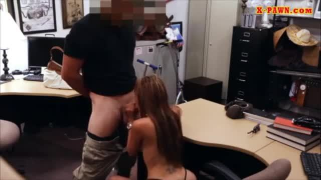 Crazy bitch posed naked and twat pounded in the backroom