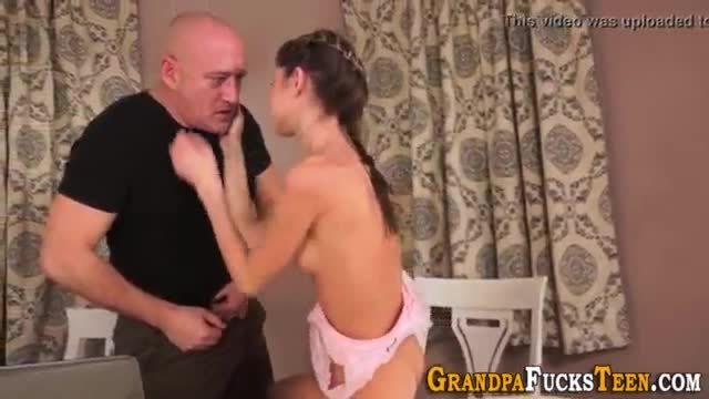 Teen spermed by old cock